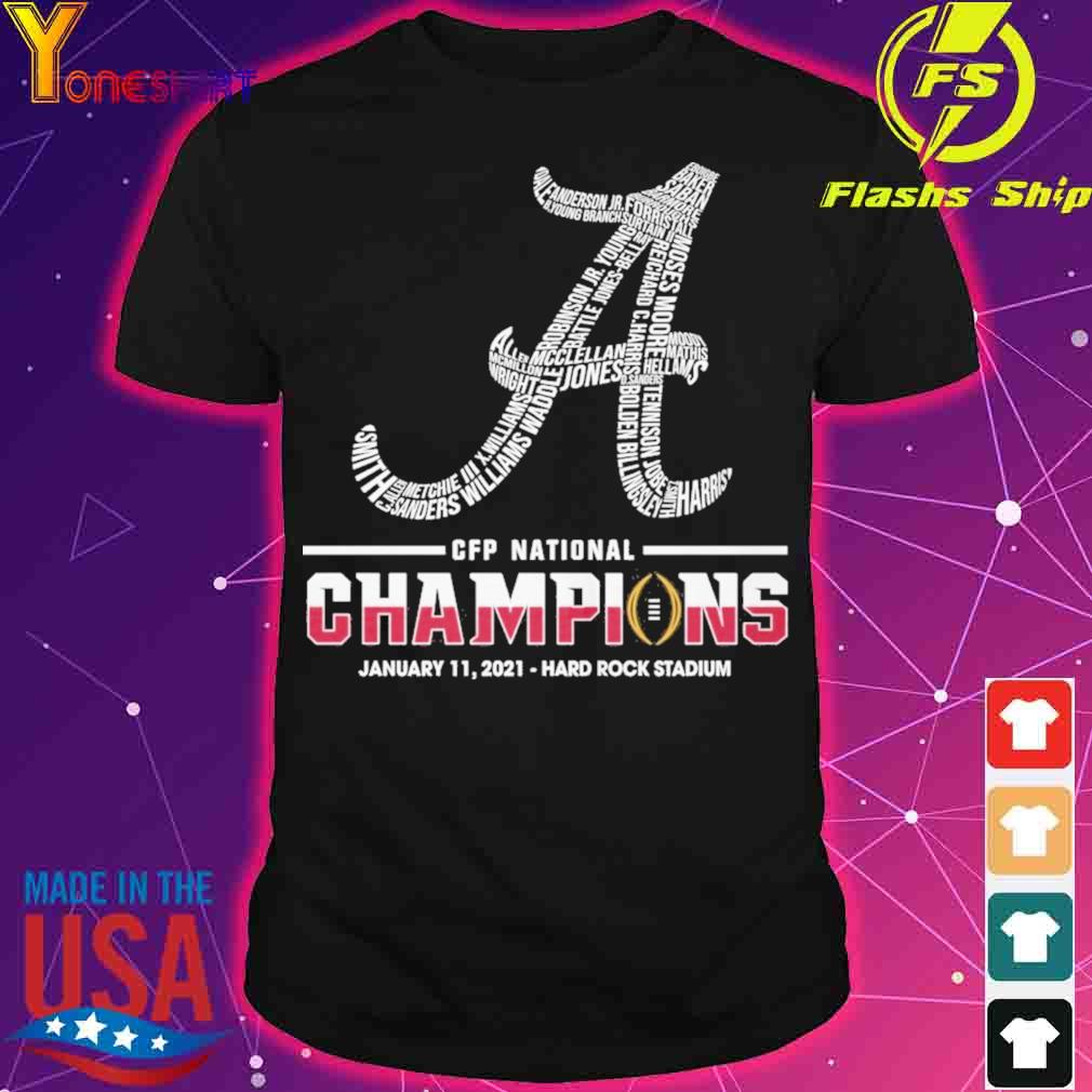 CFP national Champions January 11 2021 Hard Rock Stadium shirt
