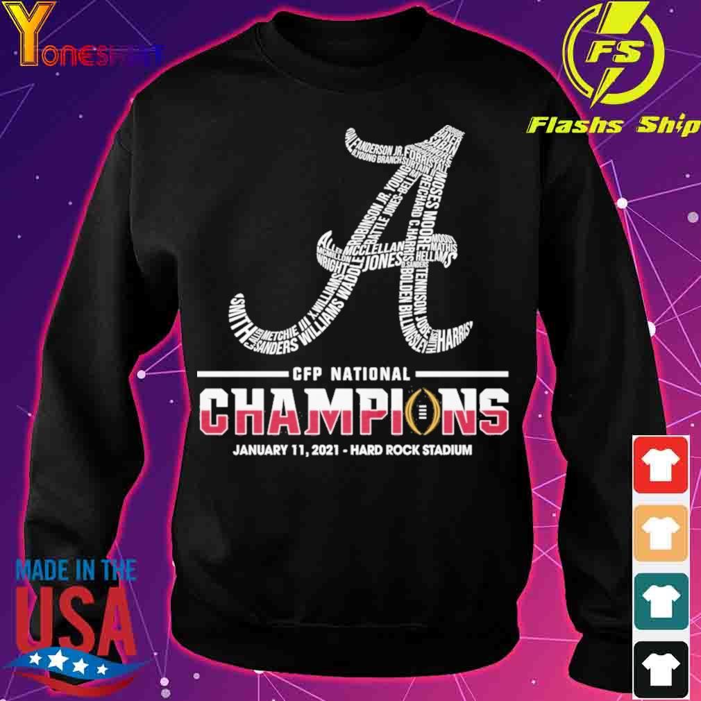 CFP national Champions January 11 2021 Hard Rock Stadium s sweater