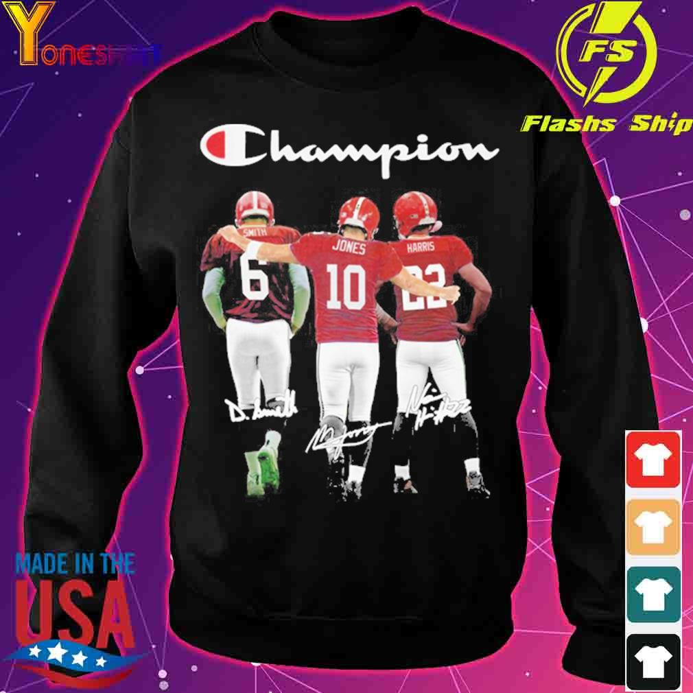 Champions Smith 6 Jones 10 Harris 22 signatures s sweater