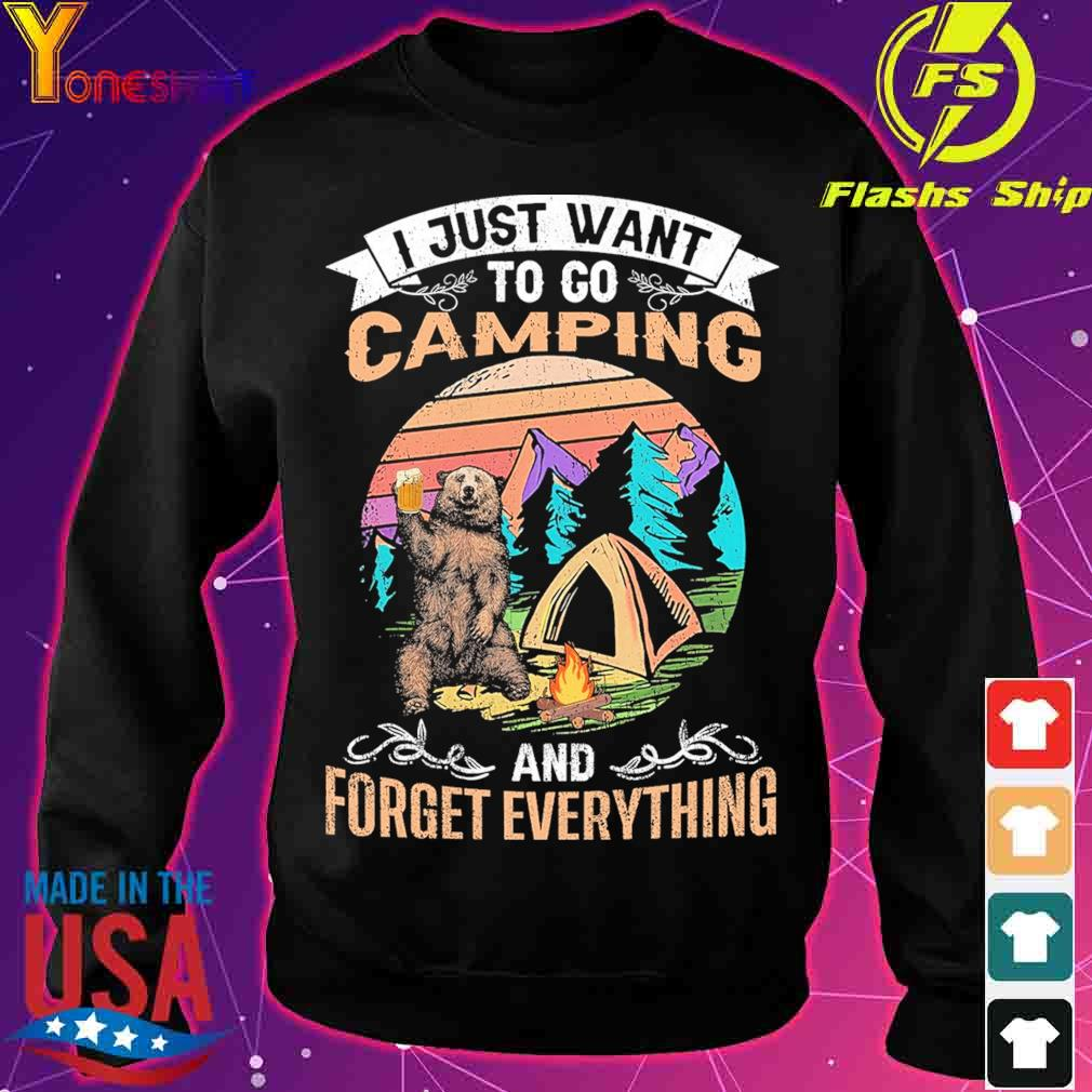 I just want to go Camping and forget everything vintage s sweater