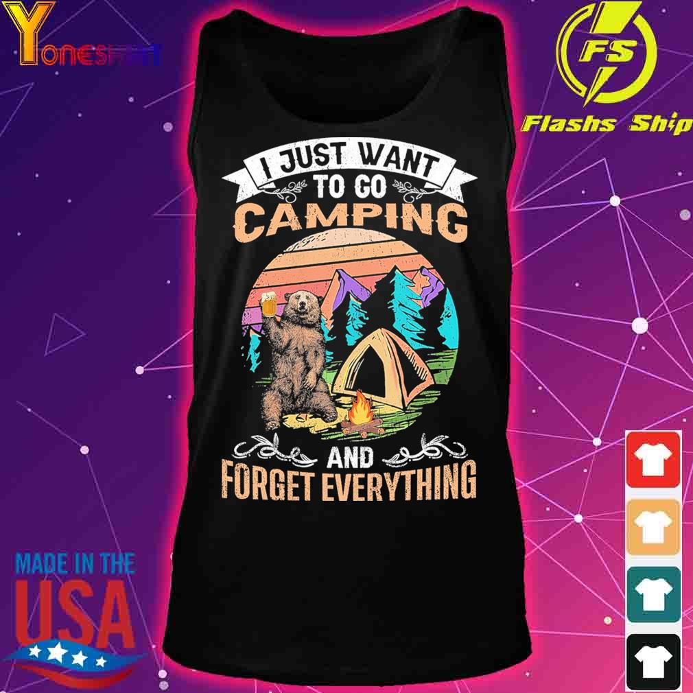 I just want to go Camping and forget everything vintage s tank top