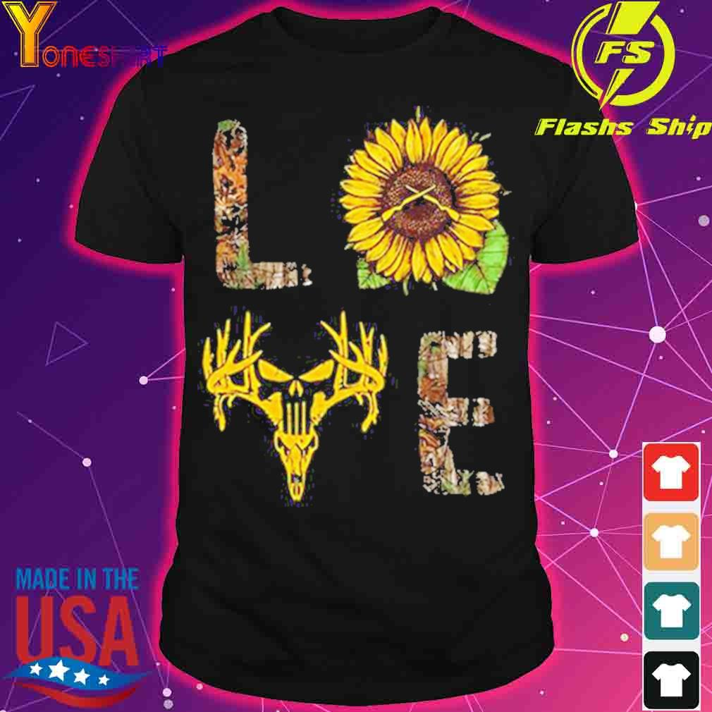 Love hunting sunflower shirt