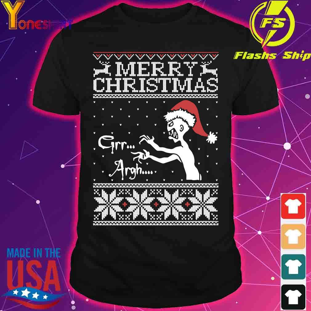 Merry Christmas Mutant Enemy Grr Argh Ugly Christmas Sweater