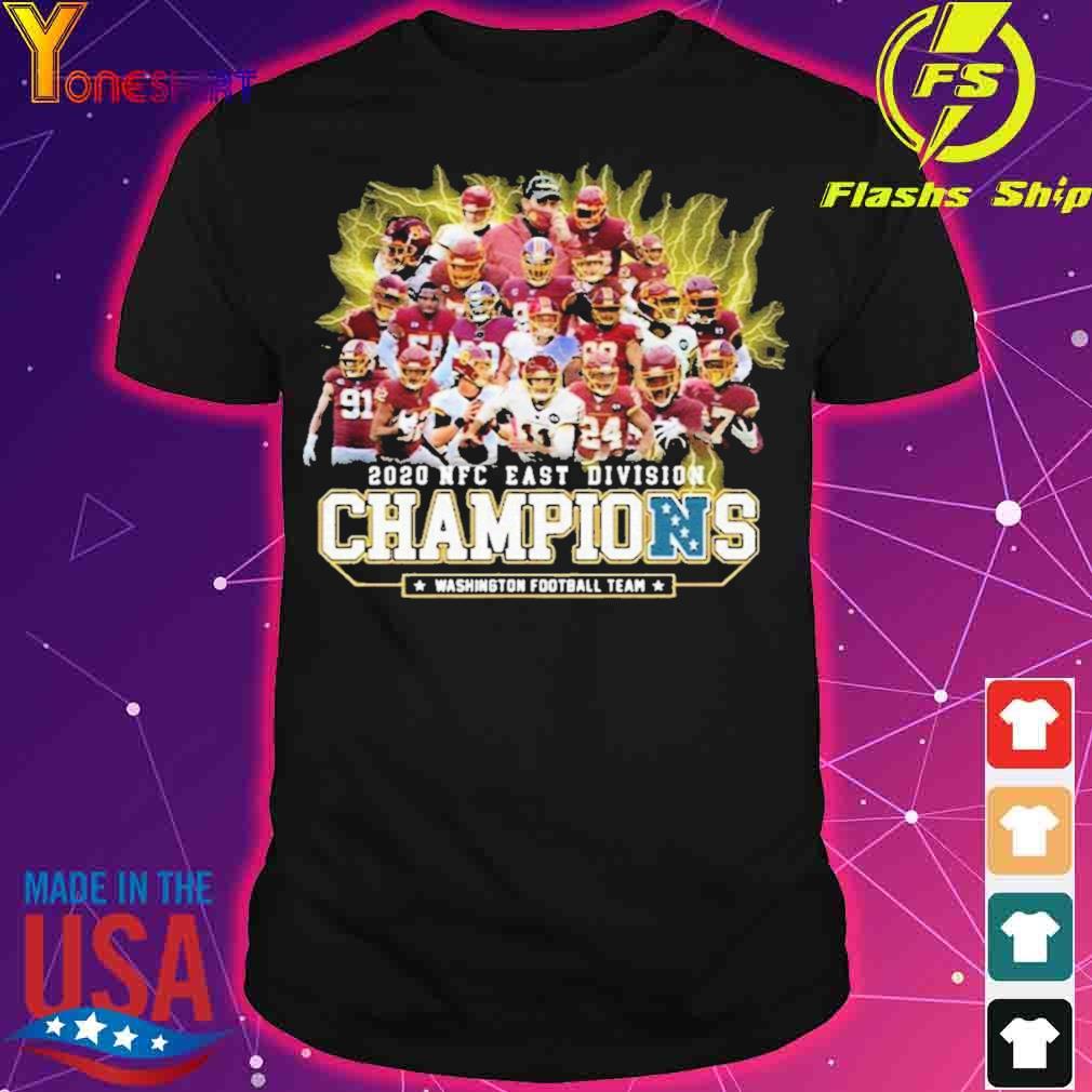 Official 2020 Nfc East Division Champions Washington Football Team Signatures Shirt