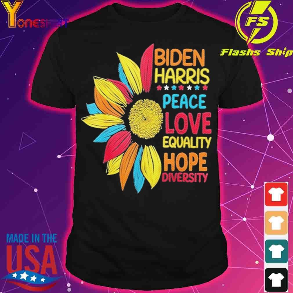 Official Biden Harris 2021 Peace Love Equality Hope Diversity Shirt