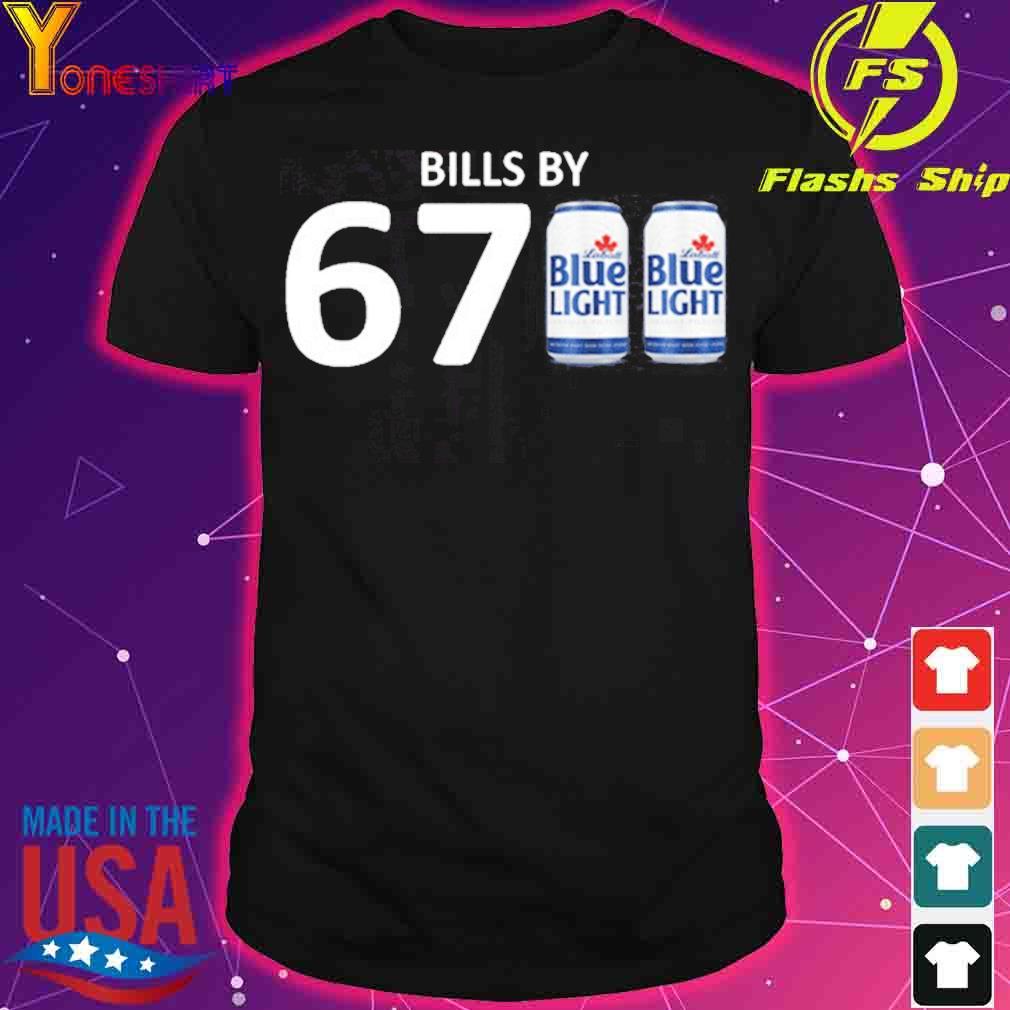 Official Bills By 6700 Shirt – Bills By 67 Blue Light Shirt – Buffalo Bills – Labatt Blue Light