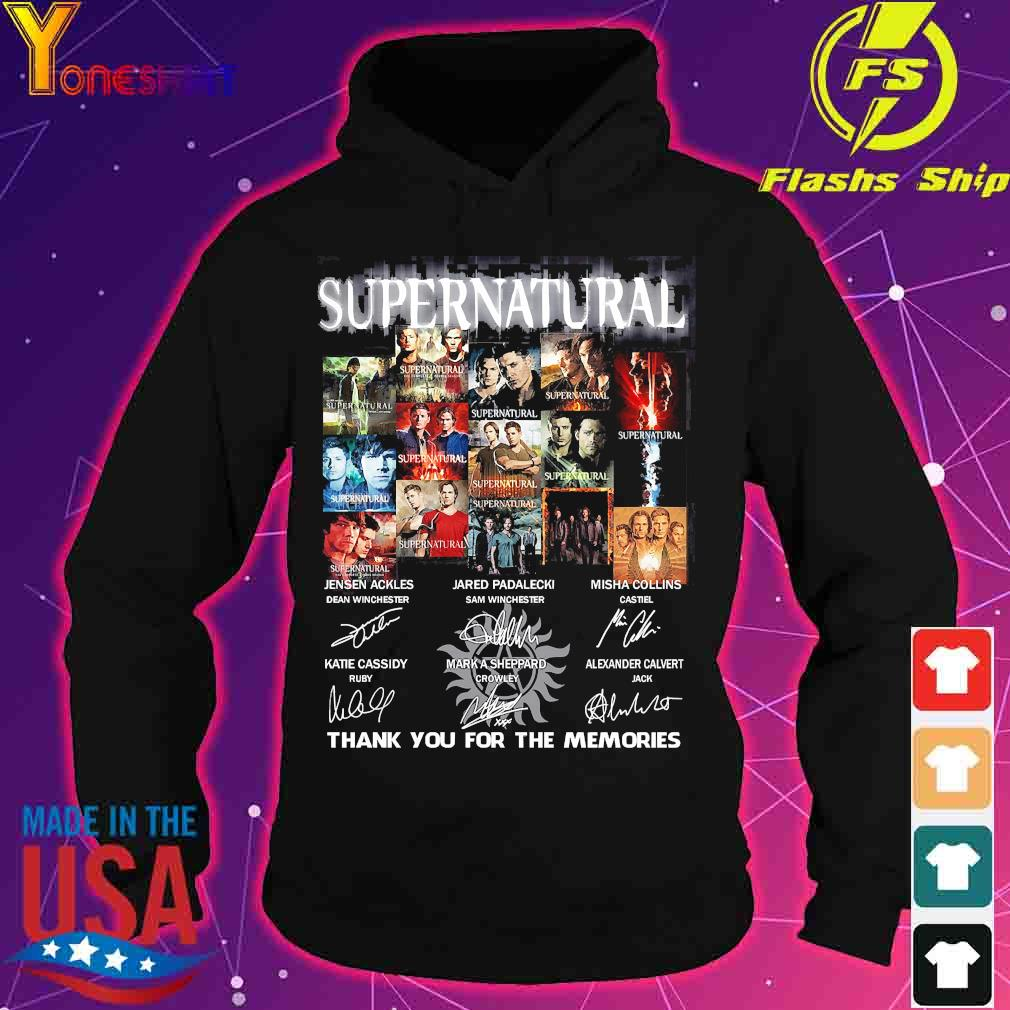 Supernatural thank You for the memories signatures s hoodie