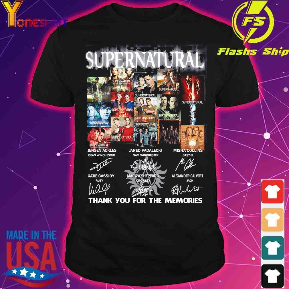 Supernatural thank You for the memories signatures shirt