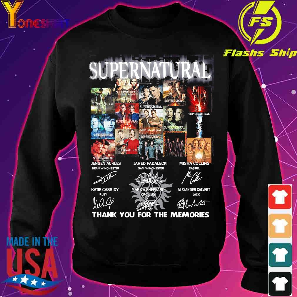 Supernatural thank You for the memories signatures s sweater