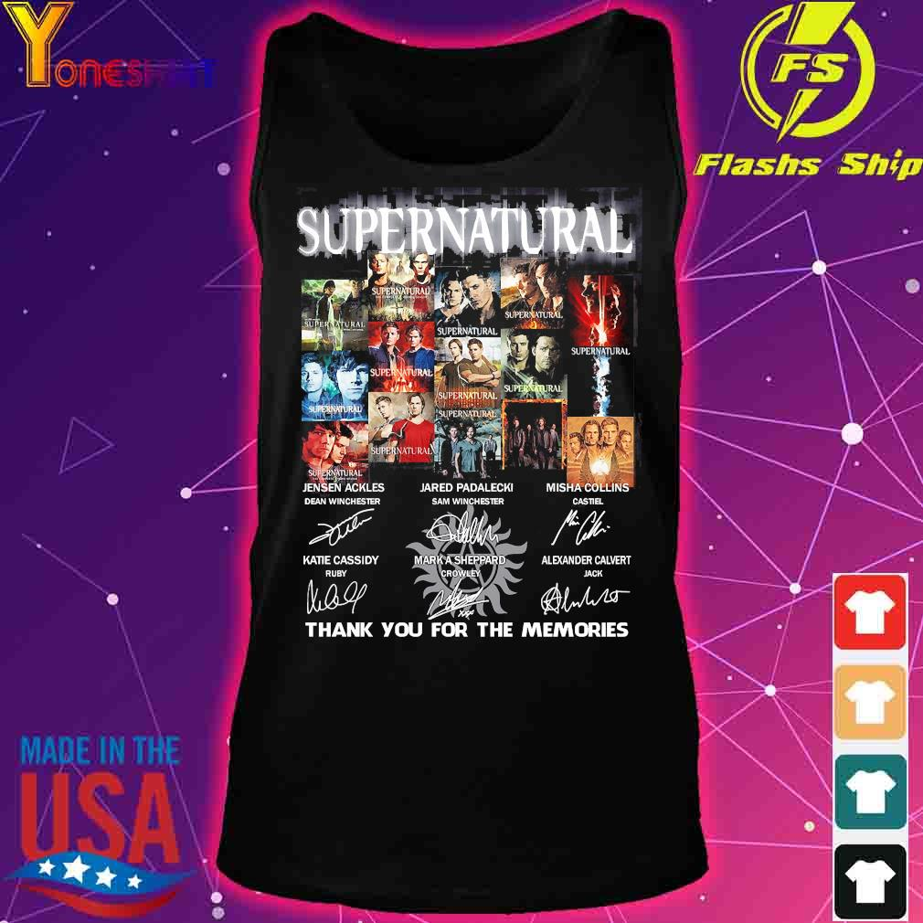 Supernatural thank You for the memories signatures s tank top