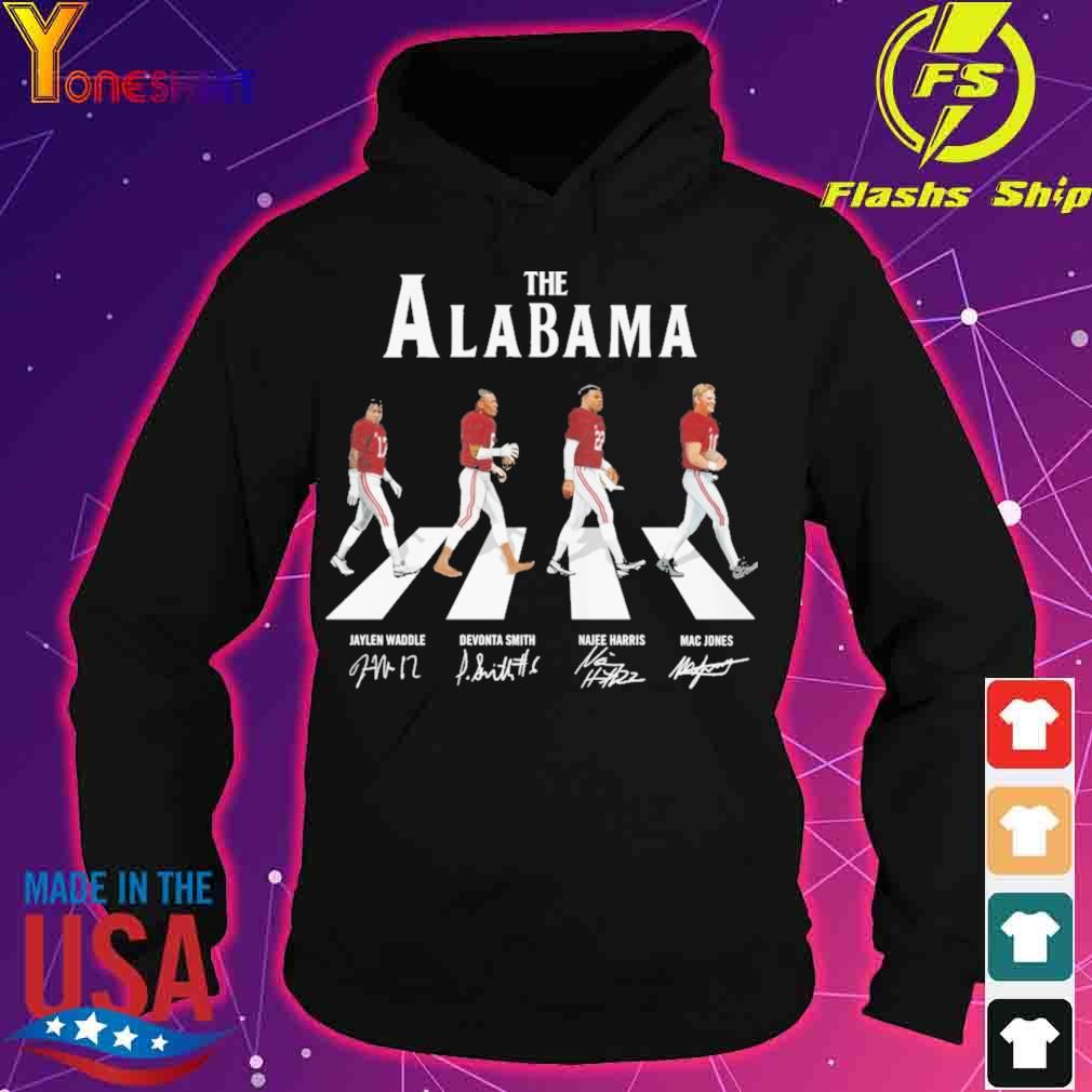 The Alabama Jaylen Waddle Devonta Smith Najee Harris Mac Jones signatures s hoodie