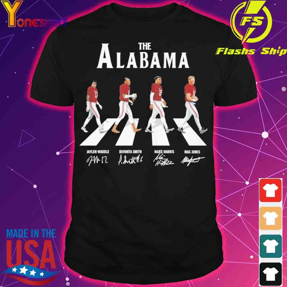 The Alabama Jaylen Waddle Devonta Smith Najee Harris Mac Jones signatures shirt