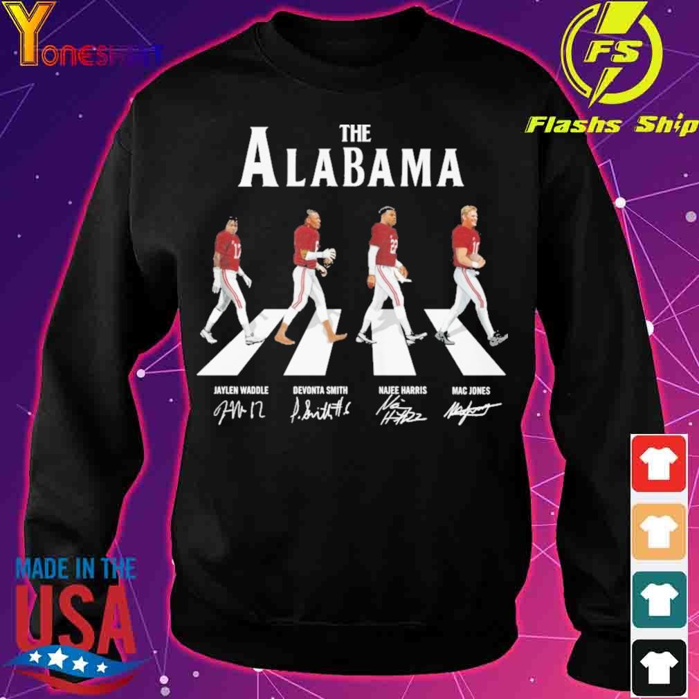 The Alabama Jaylen Waddle Devonta Smith Najee Harris Mac Jones signatures s sweater