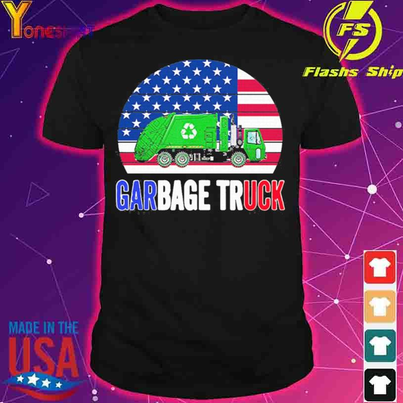 2021 Truck American Flag With Garbage vintage Shirt