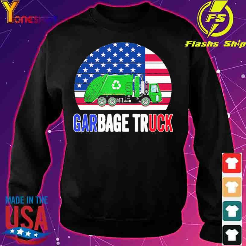 2021 Truck American Flag With Garbage vintage Shirt sweater